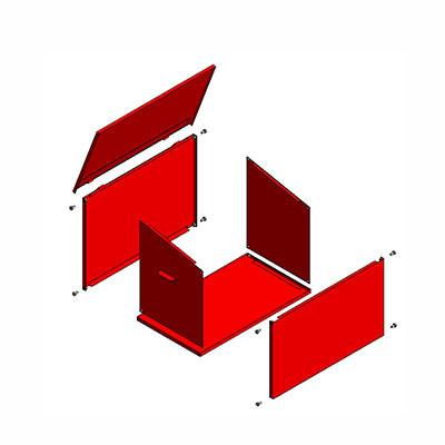 Ящик для песка ЯП-0,5 разборный